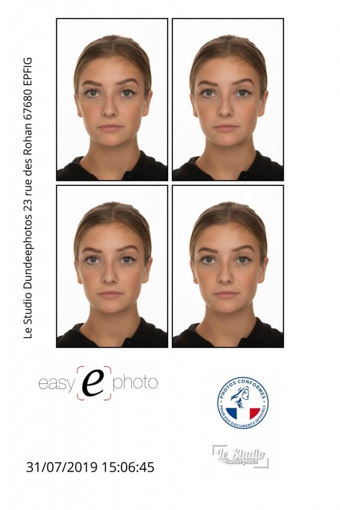 planche contact photo d'identité femme pour visa chinois