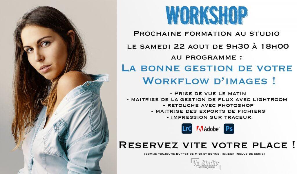 workshop (formation) sur la gestion du flux d'images, organisé à Epfig au studio Dundeephotos